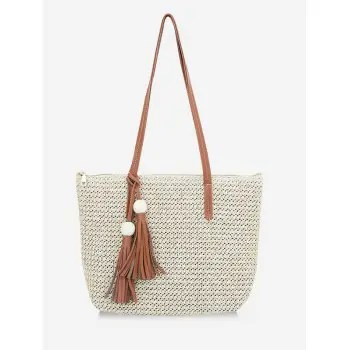 Straw Braided Shoulder Bag