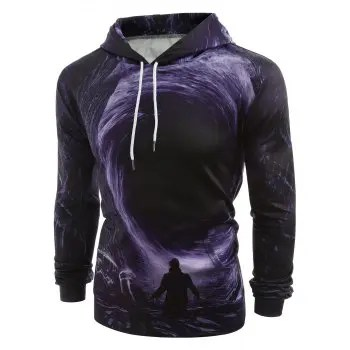 3D Swirl and Male Pattern Hoodie