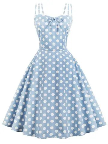 dresslily Vintage Polka Dot Pin Up Dress