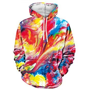 Colorful Paint Pullover Hoodie