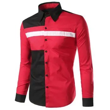 Slim Fit Panel Button Up Shirt