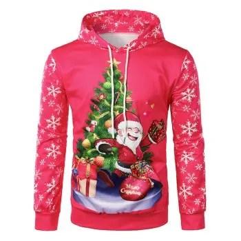 Santa Claus Printed Hoodie