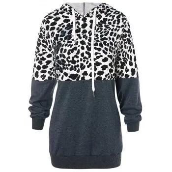 Leopard Print  Pullover Hoodie