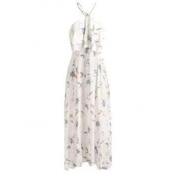 Flounce Floral Print Dress