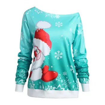 Christmas Santa Claus Print Sweatshirt