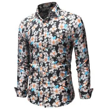 Casual Allover Flowers Printed Shirt