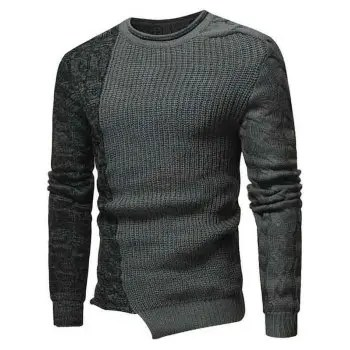 Cable Flat Knit Pullover Sweater