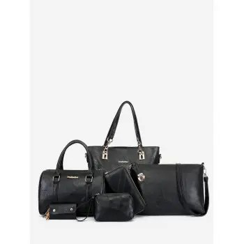 6Pcs Bags Set Letter Pattern Crossbody Bag