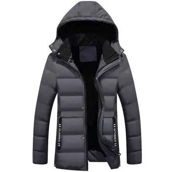 Belt Embellished Zipper Padded Jacket