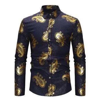 Golden Geometry Pattern Shirt