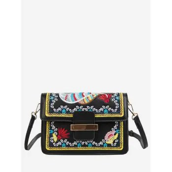 Embroidery Shoulder Bag