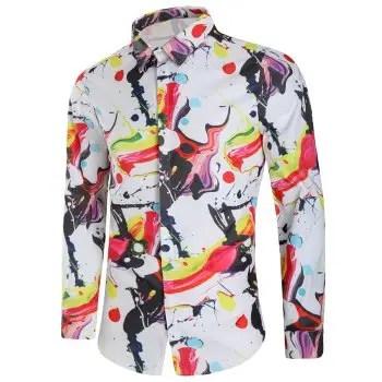 Art Painting Print Long Sleeves Shirt
