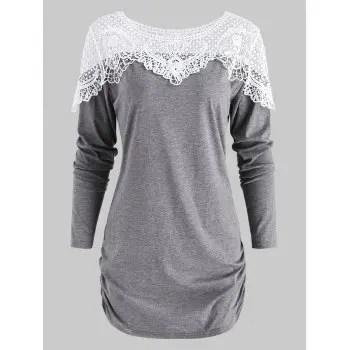 Lace Panel T Shirt