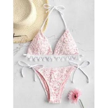 Halter Lace Bikini Set