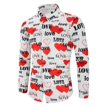 Love Letters Heart Printed Valentine s Day Shirt