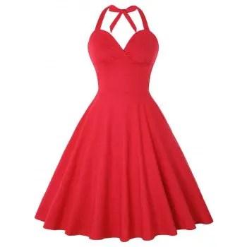 Halter Vintage Dress