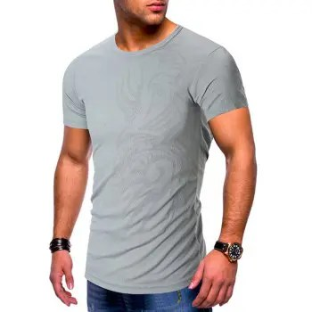 Tattoo Print Short Sleeves Casual T shirt