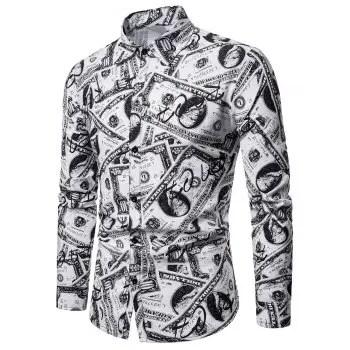 Allover Cash Print Shirt