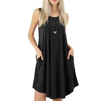Sleeveless Round Neck Swing Dress