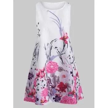 Mini Floral Print Swing Dress