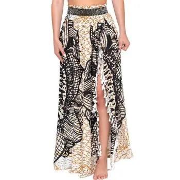 Printed Tassels Maxi Skirt