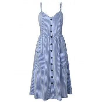 Striped Cami Casual Dress