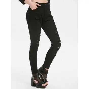 Distressed Pocket Jeans