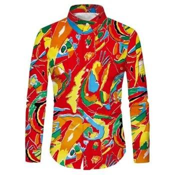 Color Painting Print Shirt