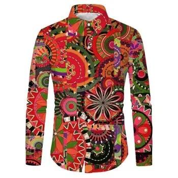 Floral Gear Print Shirt
