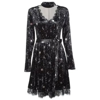 Women Velour Dress