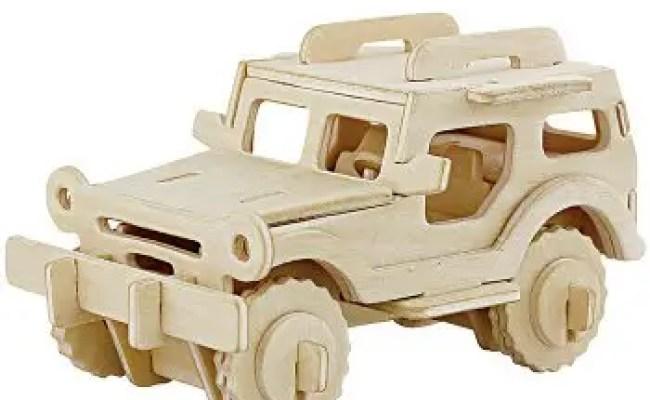 2018 Robotime Jeep 3d Wooden Puzzle Environmental Assemble