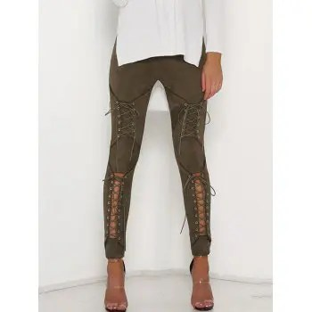 Corns Hollowed Out Tights Pencil Trousers