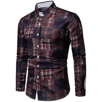 Plaid Print Long Sleeves Shirt