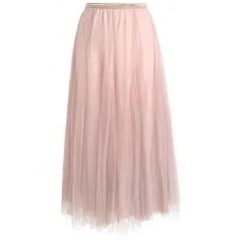 Womens Elegant Combo Color Waistband Pleats Skirt