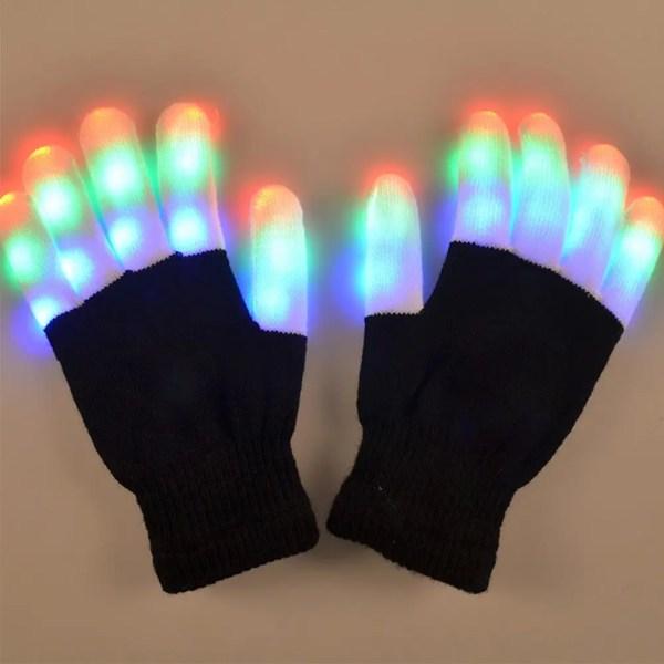 LED Finger Light Gloves