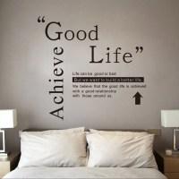 2018 DSU Good Life Wall Sticker Quotes English Motto ...
