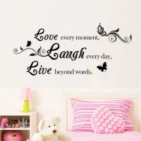 2018 DSU Love Laugh English Quote Design Wall Art Sticker ...