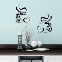 Kitchen Wall Art Exhaust Hoods 2019 Sticker Coffee Cup With Heart Vinyl Decor Decal Stickers 30x20cm Mural