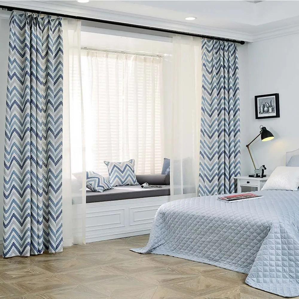 rideaux geometriques simples modernes de salon de chambre a coucher
