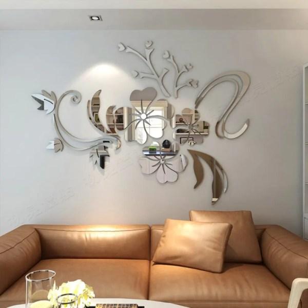 Flower Mirror Wall Decor