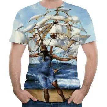 2018 New Summer Fashion Casual 3D Printing Short T Shirt