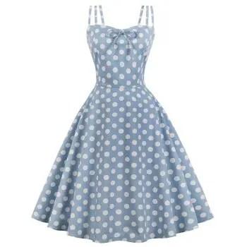 Condole Belt Wave Point of Printing Dress