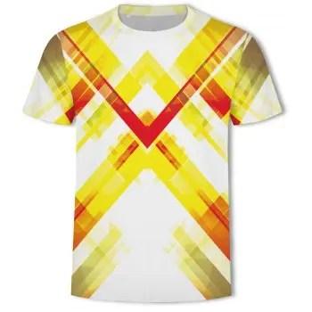 Fashion 3D Printing New Short sleeved T shirt