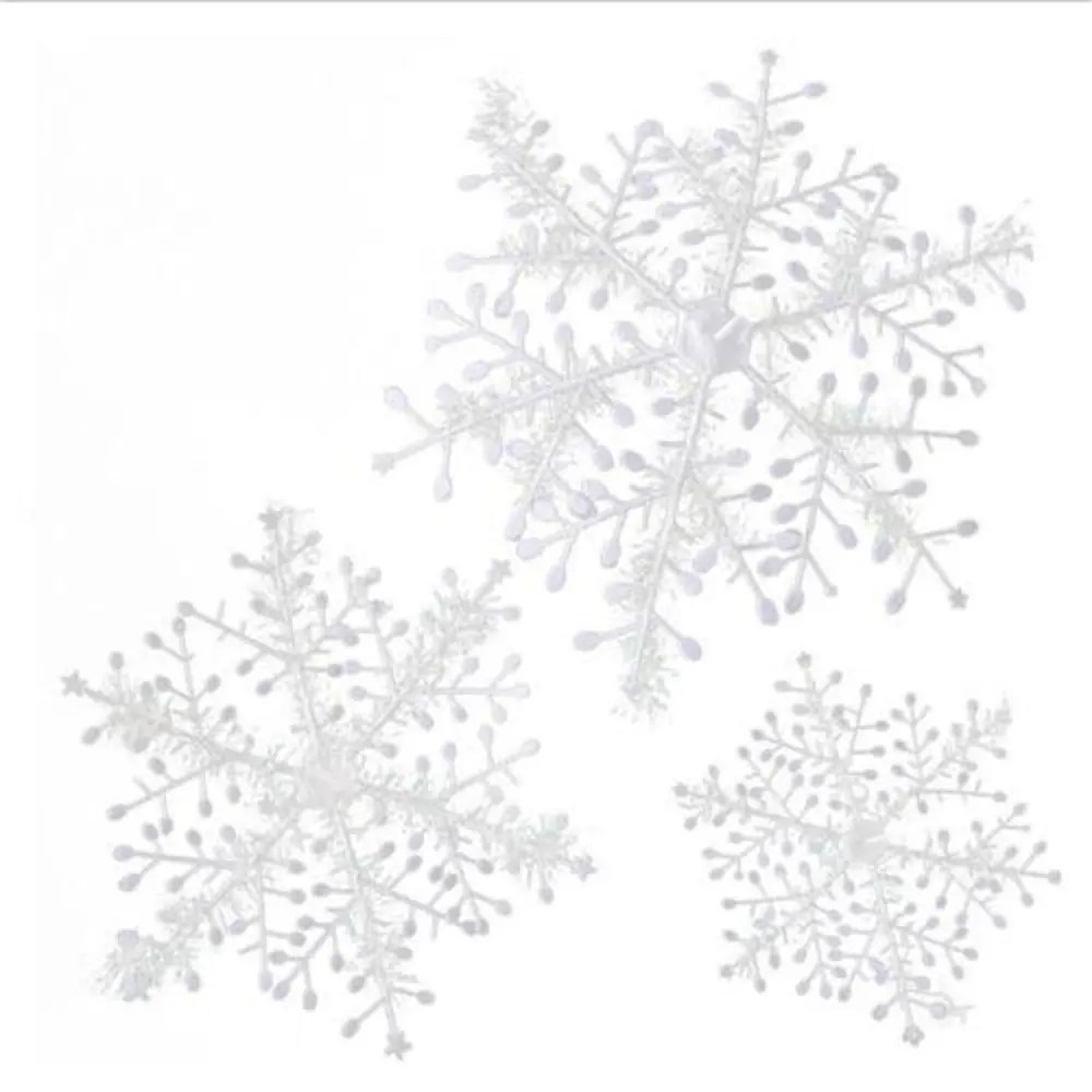 [17% OFF] 2020 15Pcs Christmas Snowflakes Tree Ornaments