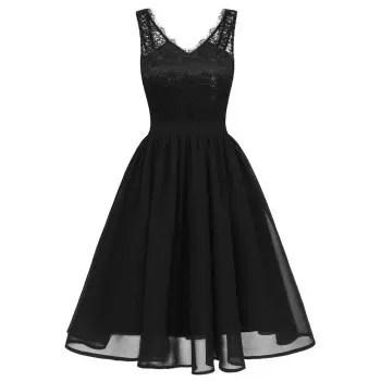 Lady V Collar Lace Sexy Dress
