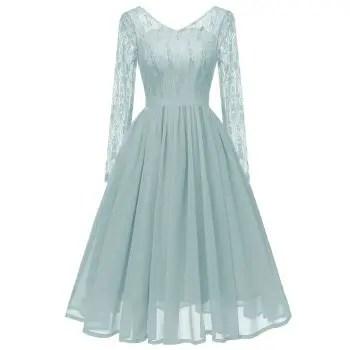 Lady V Collar Lace Gauze Dress