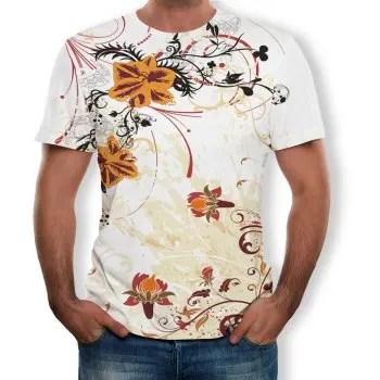 3D Summer Fashion Rattan Men S Short Sleeve T shirt