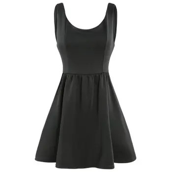 HAODUOYI Women s Sleek Minimalist Sexy Elegant Strapless Waist Dress Black