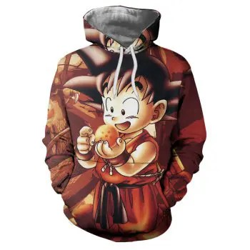 3D Winter Sports Cartoon Kids Print Mens Hoodie