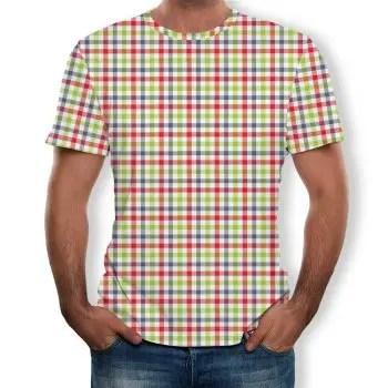 3D Summer Stereo Frame Printed Men s Short Sleeve T shirt